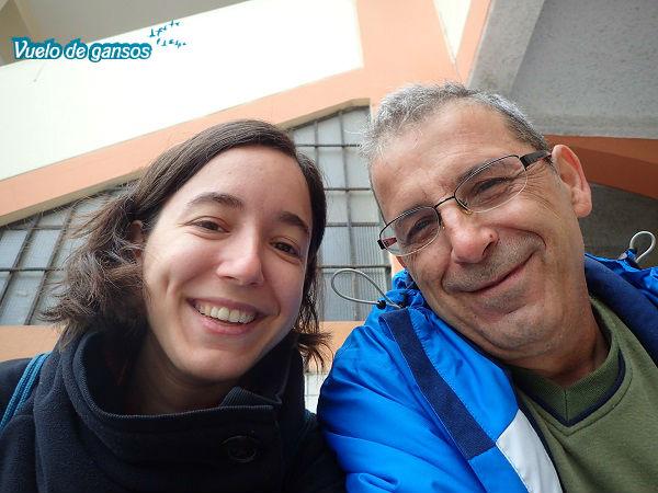 Javi y yo en Villa El Salvador (Lima)