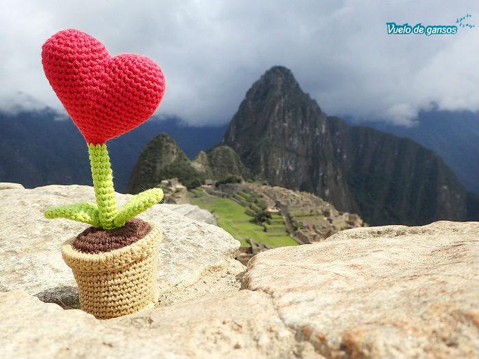 Un corazón en Machu Picchu
